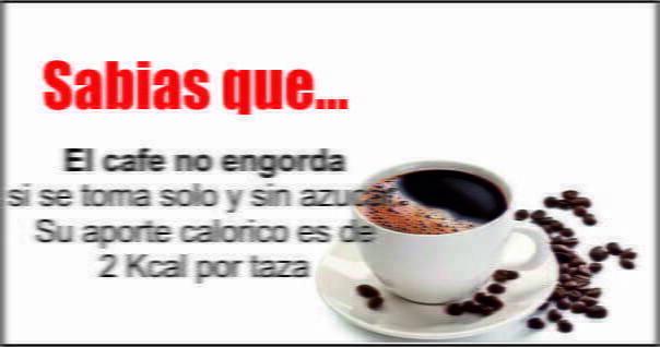 cafe no engorda