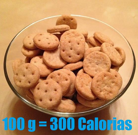 calorias de las galletas de agua
