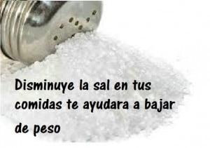 Menos sal en tu dieta