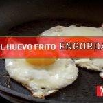 el huevo frito engorda