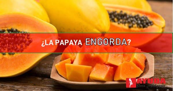 la papaya engorda