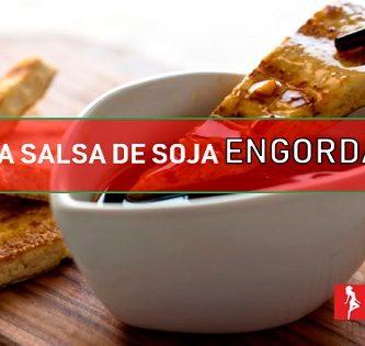 la salsa de soja engorda