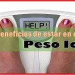 Beneficios de tener buen peso